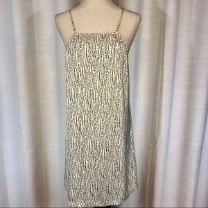 Tart yellow pattern summer dress size L